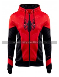 Spider Man Far From Home Tom Holland Red Black Cotton Hoodie Jacket