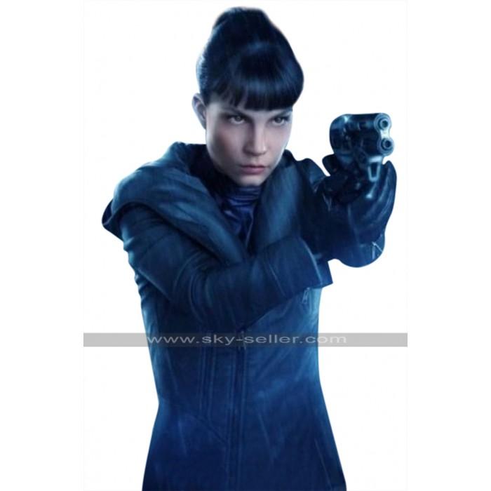 Blade Runner 2049 Luv (Sylvia Hoeks) Hooded Black Leather Jacket