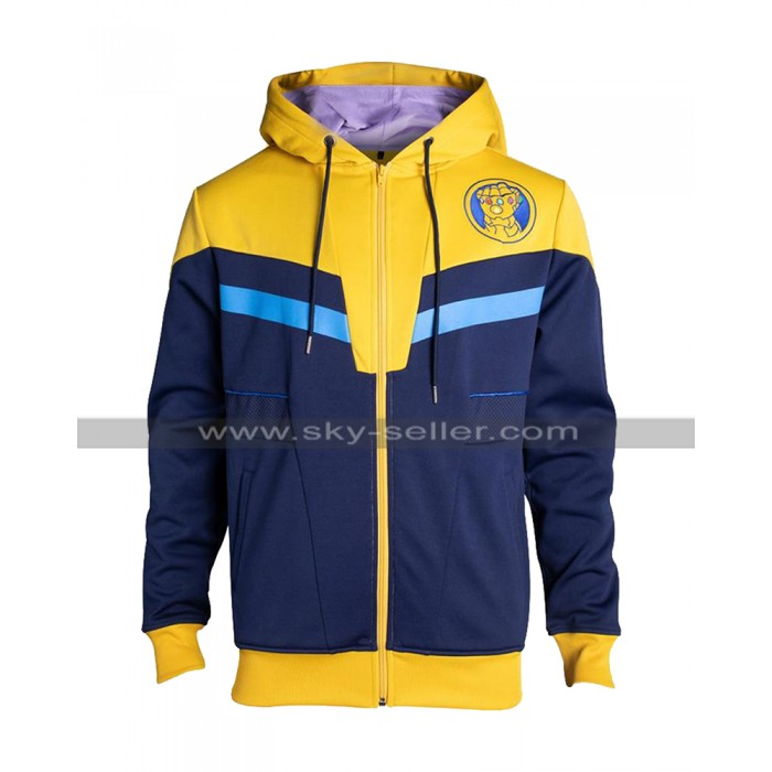 Avengers Infinity War Thanos Costume Yellow Hooded Cotton Jacket
