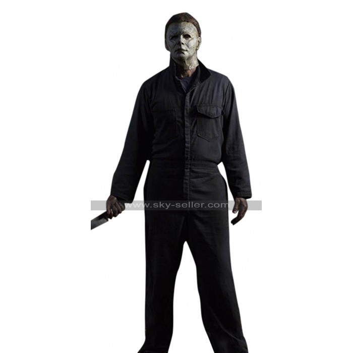 Halloween 2018 Michael Myers (Nick Castle) Cotton Black Costume Jumpsuit