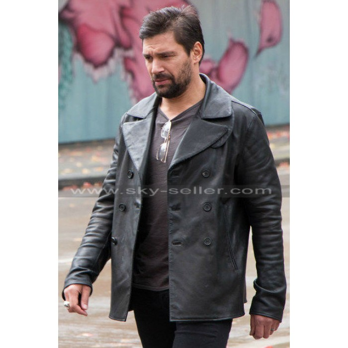 Beta Test Manu Bennett (Creed) Black Leather Jacket