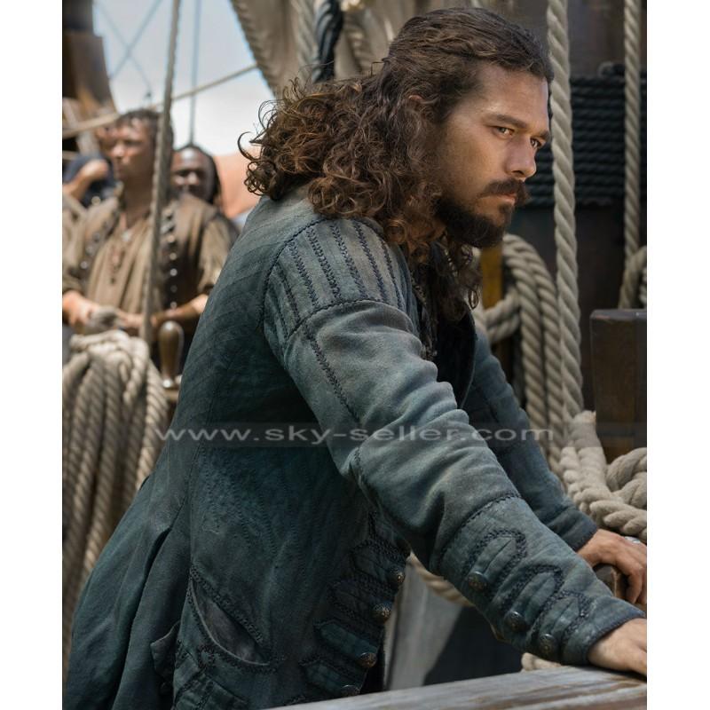 321f50a597a7 John Silver Black Sails S3 Luke Arnold Leather Coat