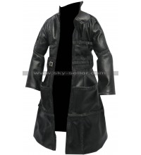 Blade Runner 1982 Roy Batty Black Costume Leather Coat