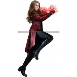 Captain America Civil War Scarlet Witch Leather Coat