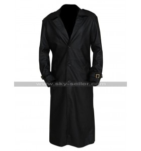 Nick Fury Captain America The Winter Soldier Samuel Black Leather Coat