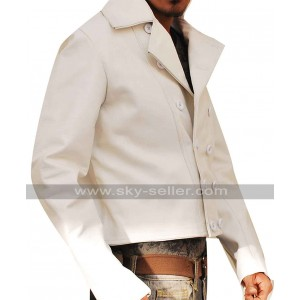 Charlie Prince 310 to Yuma Ben Foster White Leather Jacket