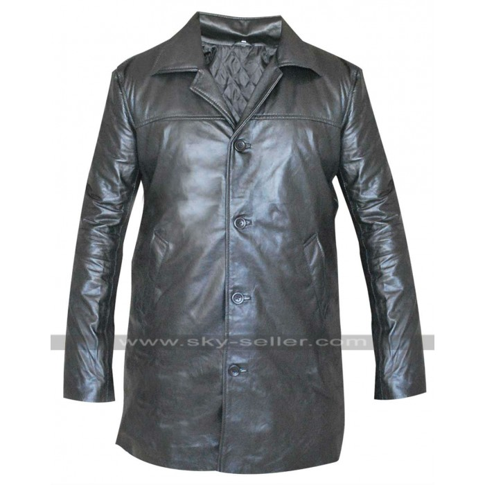 Training Day Denzel Washington (Alonzo Harris) Black Leather Coat