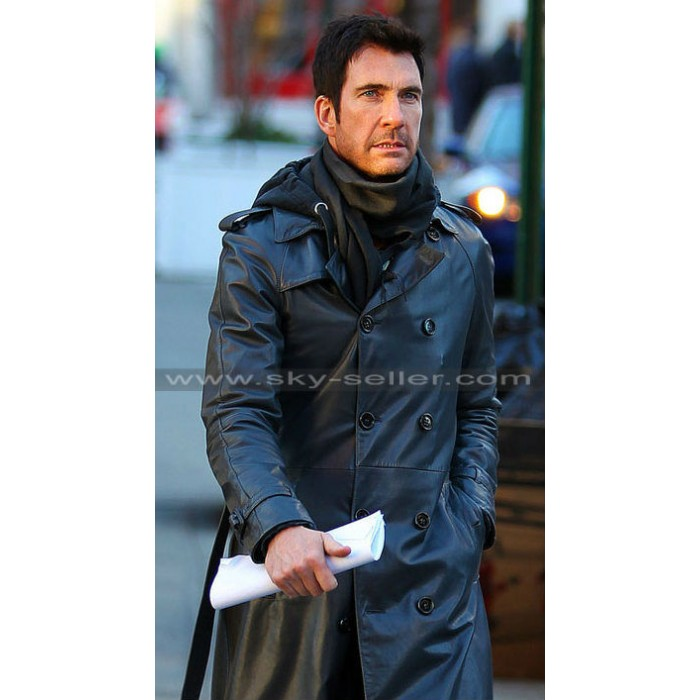 Dylan Mcdermott Black Leather Fascism Coat
