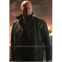 Extraction Bruce Willis (Leonard Turner) Black Leather Jacket