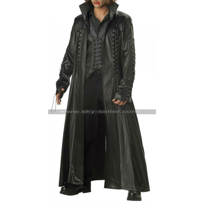 Gothic Vampire Baron Von Bloodshed Trench Black Coat