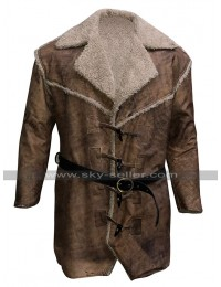 Anson Mount Hell On Wheels Cullen Bohannon Fur Shearling Brown Leather Coat
