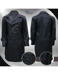 Hellboy Karl Ruprecht Kroenen Black Leather Costume Coat