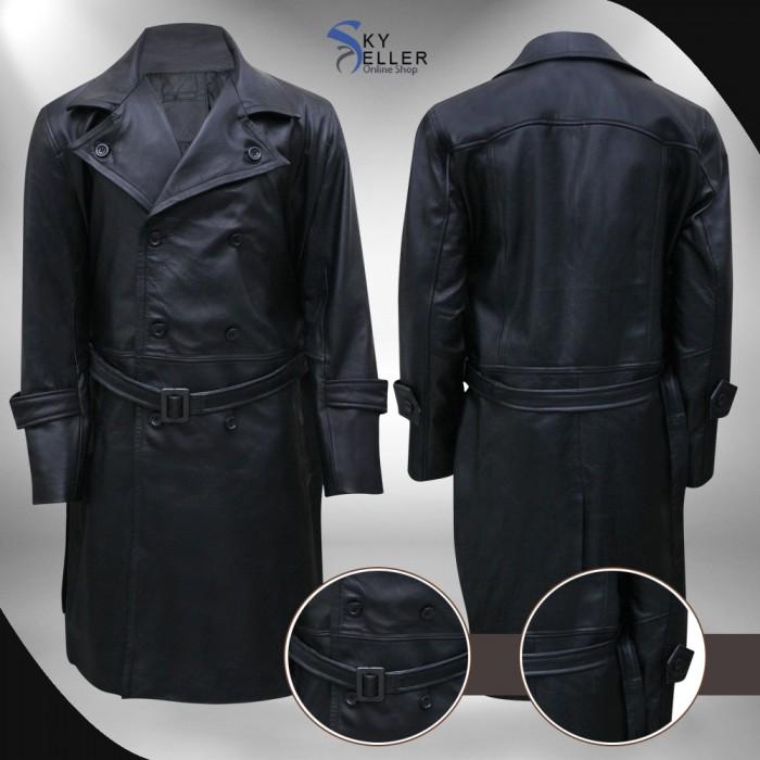 Hellboy Karl Ruprecht Kroenen Black Leather Costume Coat