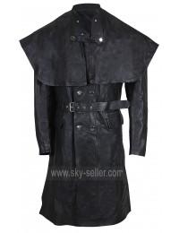 Bloodborne Yharnamite (Joe Sims) Black Leather Costume Coat