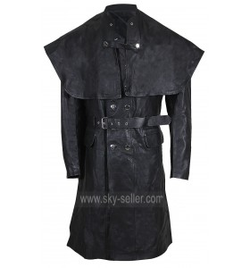 Bloodborne Yharnamite (Joe Sims) Black Leather Costume Coat