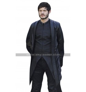 Maximus Inhumans Iwan Rheon Costume Black Leather Coat