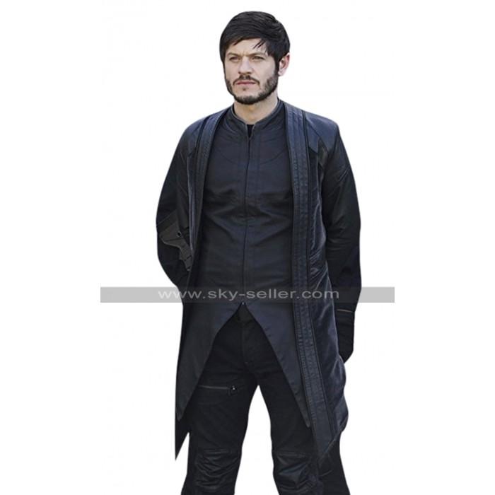 Maximus Inhumans Iwan Rheon Costume Black Leather Coat