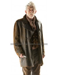 War Doctor Who John Hurt Brown Leather Coat