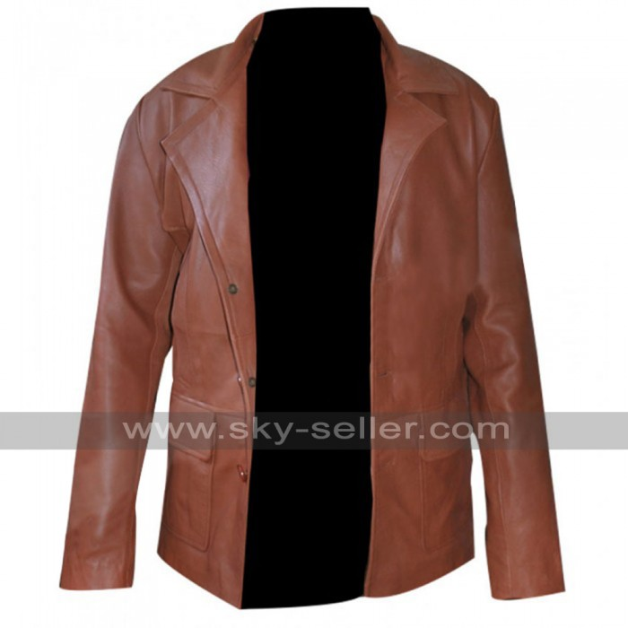 Johnny Depp Donnie Brasco Brown Leather Blazer