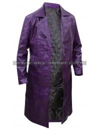 Joker Suicide Squad Jared Leto Crocodile Trench Coat