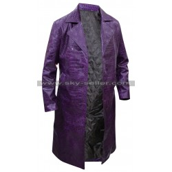Joker Suicide Squad Jared Leto Crocodile Trench Coat