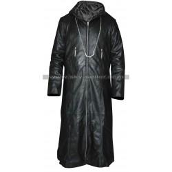 Kingdom Hearts Organization 13 Enigma Leather Hoodie Coat