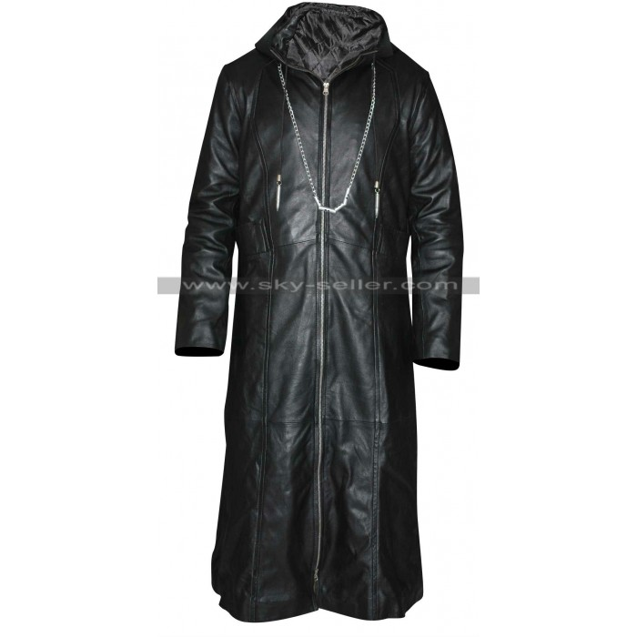 Kingdom Hearts Organization 13 Enigma Leather Hoodie Coat