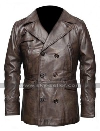 Ben Affleck Live by Night Joe Coughlin German Officer Distressed Brown Leather Coat