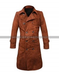 Lauren German Lucifer Chloe Decker Costume Brown Suede Leather Coat