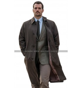 Mission Impossible 6 Fallout Henry Cavill (August Walker) Brown Cotton Trench Coat