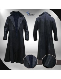 Morpheus The Matrix Laurence Fishburne Alligator Coat