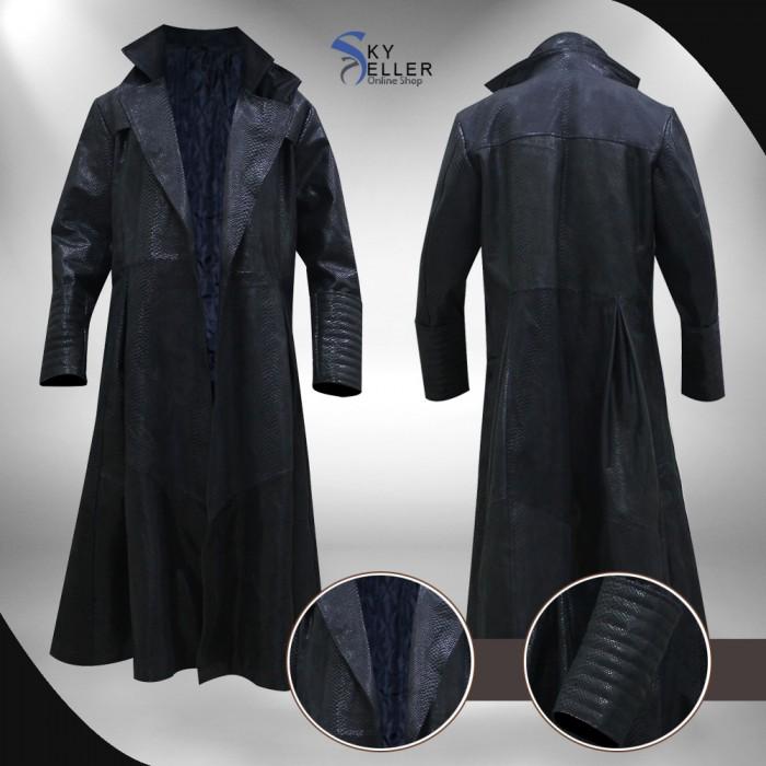 Morpheus The Matrix Laurence Fishburne Alligator Coat