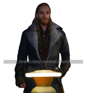 Mortal Engines Leifur Sigurdarson (Nils Lindstrom) Fur Collar Leather Coat