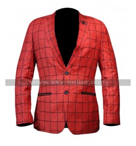Spider Man Far From Home Tom Holland Red Blazer Leather Coat
