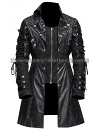 Poison Black Gothic Military Steampunk Cosplay Coat