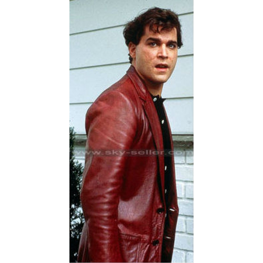 Goodfellas Ray Liotta (Henry Hill) Red Leather Jacket  DescriptionReviews