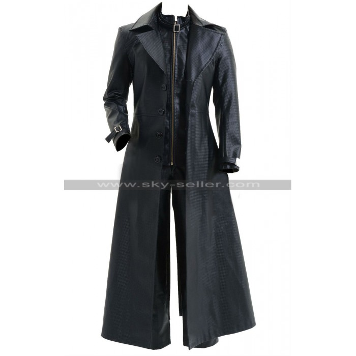 Albert Wesker Resident Evil 5 Black Costume Trench Coat