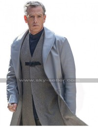 Ben Mendelsohn Robin Hood Sheriff of Nottingham Grey Leather Trench Coat