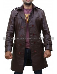 Rorschach Watchmen Leather Costume Trench Coat