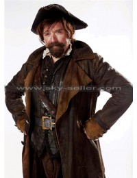 Sam Swift Doctor Who Distressed Brown Leather Coat
