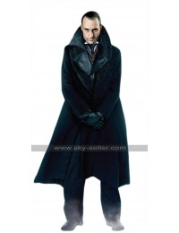 Lord Blackwood Sherlock Holmes Mark Strong Black Leather Trench Coat