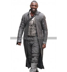 Idris Elba The Dark Tower Roland Deschain Black Leather Trench Coat