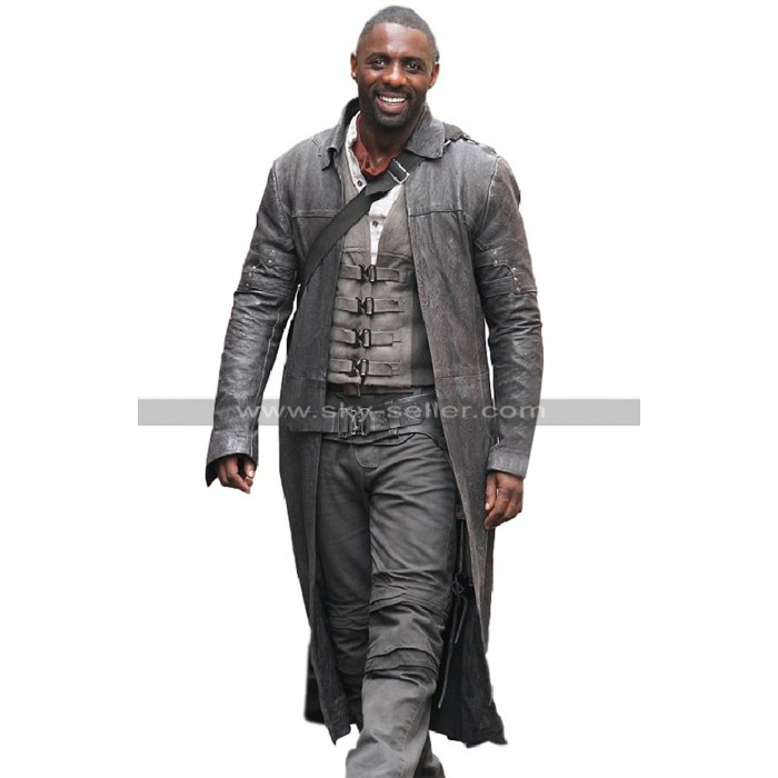 Idris Elba The Dark Tower Roland Deschain Black Leather Trench Coat