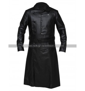 Jopling The Grand Budapest Hotel Willem Dafoe Black Leather Trench Coat