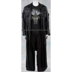 The Punisher Frank Castle Black Trench Leather Coat
