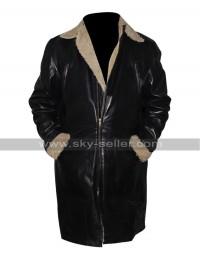 The Twilight Saga Breaking Dawn Alistair Black Trench Fur Coat