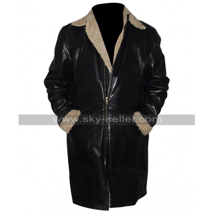 The Twilight Saga Breaking Dawn Alistair Black Trench Fur Coat