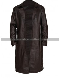 Tom Payne The Walking Dead Paul Jesus Rovia Brown Leather Trench Coat