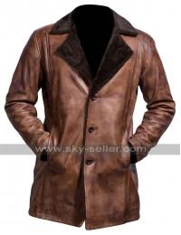 The Wolverine Hugh Jackman Brown Fur Trench Coat