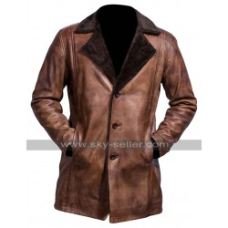 The Wolverine Hugh Jackman Brown Fur Trench Coat